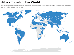 countries visited map eddy ogunbor clinton countries visited by the most