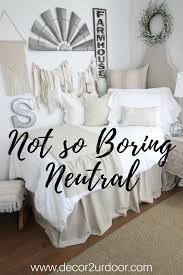 love that fixer upper style neutral dorm bedding is always a