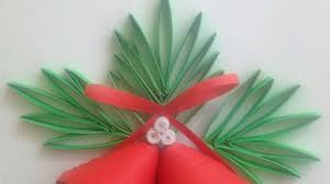 how to make quilled red christmas bells diy crafts tutorial