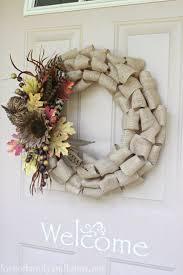 Wreath For Front Door Quick U0026 Easy Burlap Fall Wreath Tutorial Love Of Family U0026 Home