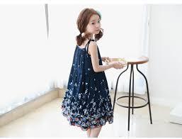 dress pattern 5 year old 2018 mid calf girls dress summer blue 2017 pattern print baby