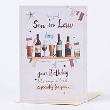 birthday card son in law raise a toast only 89p