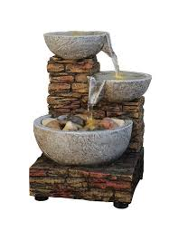 home locomotion peaceful buddha polyresin tabletop water fountain cascading water fountain brick stone bowl rocks led lights table desk top a2953v