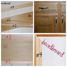 How To Reface Cabinets With Beadboard Remodelaholic Builder Grade Cabinet Upgraded Tutorial