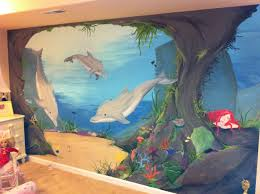 dolphin mural in young girls room neverland artistry by mandy