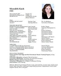 Actor Resume Skills How To Make A Resume For Acting Auditions With No Experience