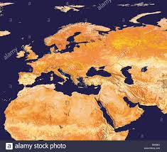 Europe And North Africa Map by Avhrr Satellite Image Of Europe Arabia And North Africa With