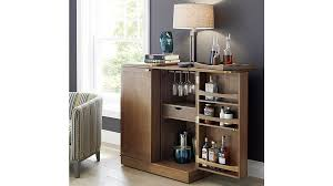 Built In Drinks Cabinet Maxine Bar Cabinet Crate And Barrel