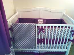 Purple Chevron Crib Bedding Modern Gray And Purple Crib Bedding By Butterbeansboutique On Etsy