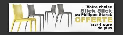 chaise slick slick offre xo pack chaises slick slick de philippe starck