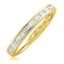 baguette wedding band 14k yellow gold baguette diamond bridal wedding band