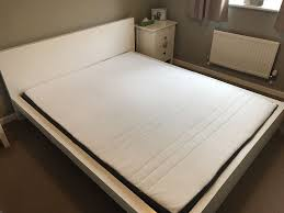 ikea malm low bed and ikea morgedal mattress european king size