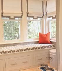 window treatments built in bench alderson smith mudroom