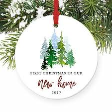 new house gifts amazon com new home ornament 2017 1st christmas in our new house