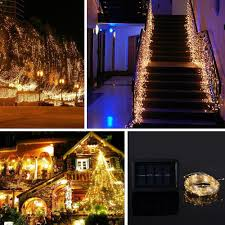 warm white solar fairy lights new version solar powered 150led 72feet string lights starry