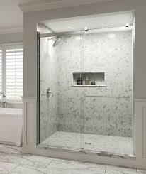 Bypass Shower Door Basco Rotolo 59 X 76 Bypass Sliding Shower Door Reviews Wayfair