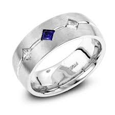 mens unique wedding ring wedding bands platinum sapphire diamond wedding ring for men