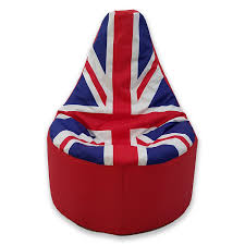 Union Jack Dining Chair Large Bean Bag Gamer Beanbag Outdoor Gaming Garden Big Chair