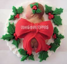 christmas present baby cake topper wreath baby shower 1st birthday