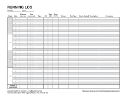 Printable Spreadsheet Template Log Template Log Template 10 Documents In Pdf