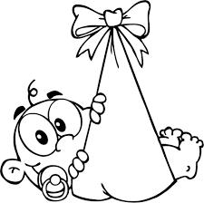 newborn baby coloring pages eson me