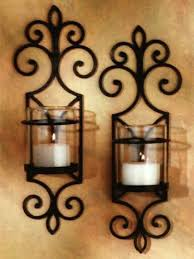 Gold Wall Sconce Candle Holder Sconce Industrial Iron Wall Sconce Gold Large Metal Wall Sconces