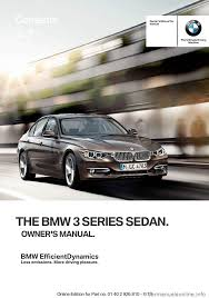 bmw 3 series sedan 2013 f30 owner u0027s manual