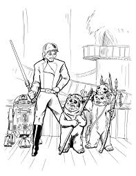 ewok coloring pages download print star wars coloring pages ewok