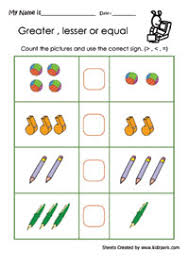 greater than less than worksheets for kindergarten free worksheets