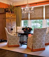 decorating elegant dining room design with upholstered dining