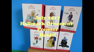 hallmark ornament premier july 2017 disney and the