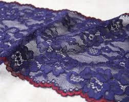 navy lace ribbon navy blue lace etsy