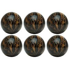 Rope Table L Vanilla Inch Decorative Rope And Bark Nature Spheres Set Of L