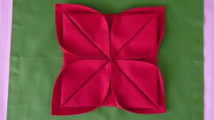 thanksgiving napkins paper napkin folding lotus youtube