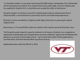 high school applications online scholarship applications are available on the loudoun county ppt