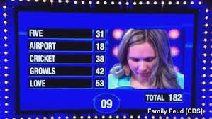 family feud contestant needing only 18 to win fails to score a