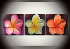 deco painted painting on canvas flower p82 for sale