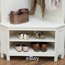 hall tree entryway bench with shelf shoe storage and coat rack for
