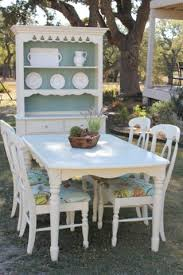 Cottage Style Chairs by Cottage Style Dining Table Chairs And Hutch By Nodtothepast