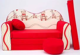 childrens sofa bed fold out sofa bed free pillow and pouffe