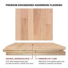 oak engineered flooring 9 16 x 3 4 select grade