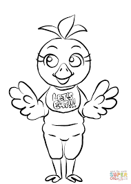 fnaf chica coloring page free printable coloring pages