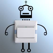 funny robot creative switch stickers bedroom parlor wall toilet funny robot creative switch stickers bedroom parlor wall toilet stickers home decoration kids room gift for