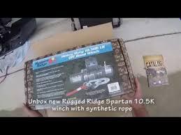 Rugged Ridge 8500 Winch Rugged Ridge Spartacus Winch Installation Youtube
