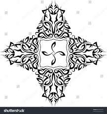 vector tribal tattoo set cross stock vector 42264295 shutterstock