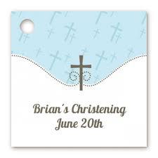 baptism favor tags baptism christening favor tags cross blue favor tags