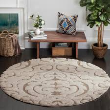 safavieh velvet shag light beige 6 ft 7 in x 6 ft 7 in round