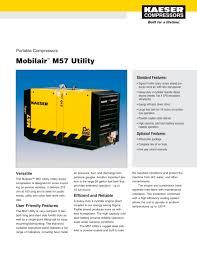 mobilair m57 utility kaeser compressors pdf catalogue