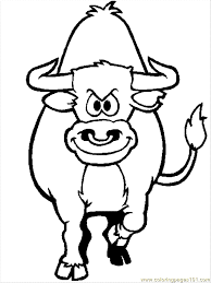 coloring pages cow coloring page mammals u003e bull free printable