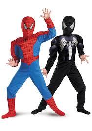 spiderman halloween costumes for kids reversible spiderman 3 red to black muscle chest kids costume mr